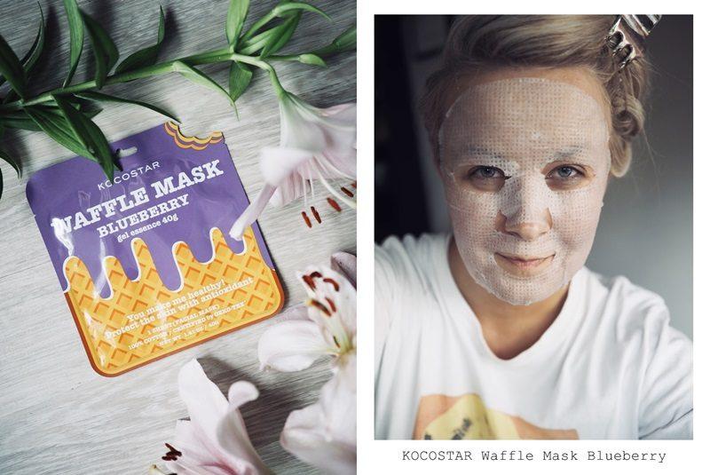 kocostar waffle mask blueberry