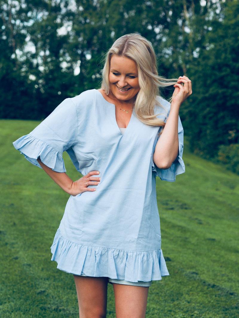 na-kd blue dress